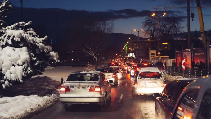"Час-пик на ""Орлов мост"". Фото: Константин Мравов/Евромегдан"