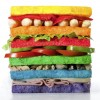 Сандвич в цветовете на гей флага.